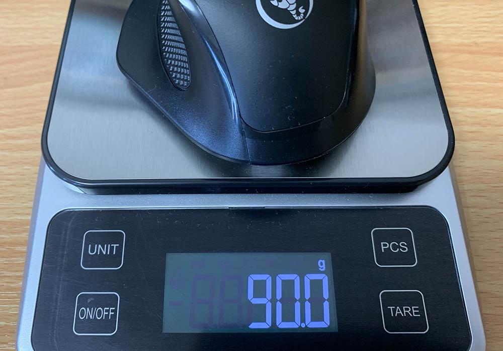 マウスの重さ