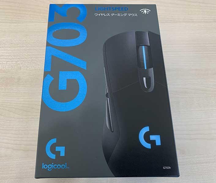 Logicool G703hの外箱