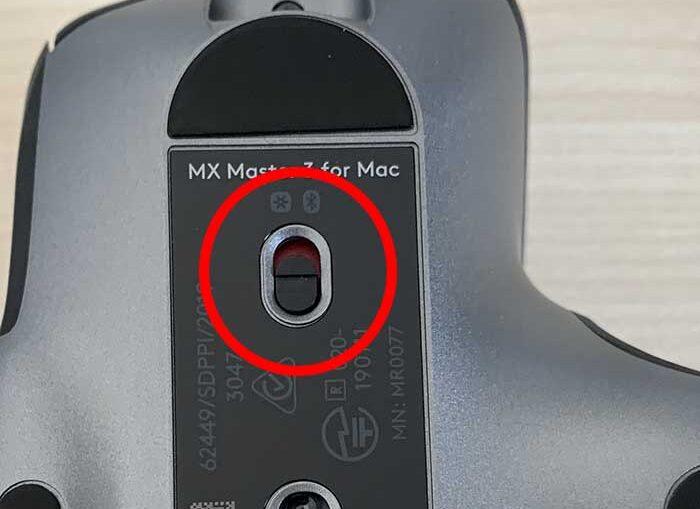 MX MASTER 3 for Macの電源ボタン